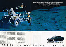 PUBLICITE ADVERTISING 045  1991  CITROEN BX  MILLESSIME TURBO ( 2p)