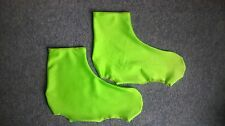 Lycra Time Trial Overshoe Flo Green  Size XL