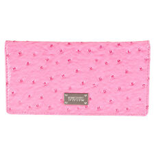 Kenneth Cole Reaction Womens Faux Ostrich Bi-fold Slim Clutch
