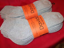 Mens socks ankle / quarter 100% cotton made in Italy 8 pairs davido gray 10-13