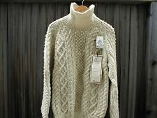 1980s McMahons Farm Wool Turtle Neck Hand Knitted Sweater VTG NWT Womens L XL