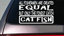 "Catfish all people equal 6"" sticker *E608* fishing rod reel line bait stinkbait"