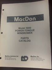MacDon Model 5000 Power-Tongue Windrower Parts Catalog