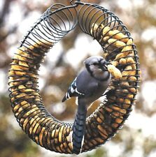 Bird or Squirrel Whole Peanut Feeder Wreath, Black, SE6019