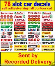 78 x Slot car / Scalextric Barrier stickers Model Race Logo Lego adhesive vinyl
