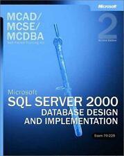 70-229 Microsoft SQL Server 2000 Database Design and Implementation MCSE MCDBA