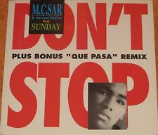 """M.C. sar & the real McCoy feat. sunday, dont 't stop., EX/NM 12"""" EP (6599e)"""