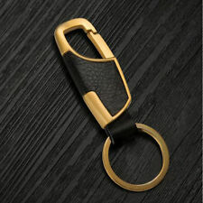 Men's LUXURY Key Chain Steel With Genuine Leather Car Key Ring Chain