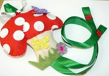 Girls Toadstool Hair clip, Head band holder Personalised