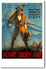 And They Thought - WW2 Army War Bonds Art Print  POSTER