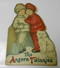 1915 Vintage Childrens Book Angora TWINNIES by Margaret Evan Price Art GD