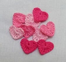 12 Crochet Heart  Appliques,Accessories,Supplies,Paper,Wedding,Baby,Sewing,Decor