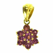 .75 CT RUBELLITE PINK TOURMALINE PENDANT 14K YELLOW GOLD i7 NATURAL ROUND CUT