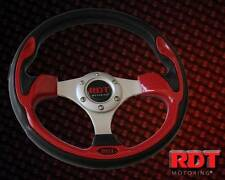 RDT Carbon Fiber Red 320mm Racing Touch Steering Wheel for 6 Bolt Pattern