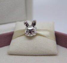 New w/Box Pandora Remarkable Rabbit Sterling Silver Charm 791838 Bunny Head