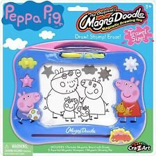 New Peppa Pig Mini Magna Doodle Draw Stamp Erase Travel Size Toy Playset