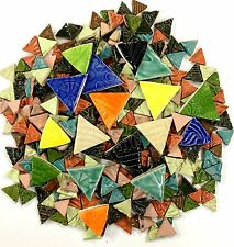 Mosaic Triangle Tiles - 1 lb High Fired Ceramic Tiles - Mixed Bag
