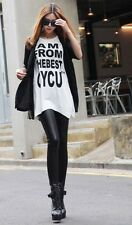 Fashion Womens Sexy Skinny Stretch Wet Look Faux Leather Leggings Pants