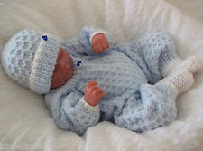 DK Knitting Pattern 13 TO KNIT Newborn Baby or Reborn Romper Suit, Hat & Bootees