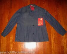 NOS CANAPROOF 1940/50 CANADA MADE PLAID LINED BLUELINE SELVEDGE DENIM WORK COAT