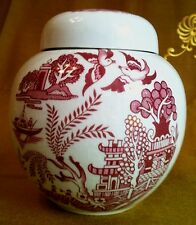 Teedose Ingwertopf Chinoserien Art Deco Athur Wood Vase with cover Porcelain can