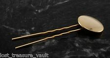 Vintage Hair Pin Decorative Gold Tone Circle Hair Fork Metal Accessory