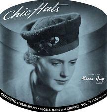 Bear Brand & Bucilla #78 c.1934 - Chic 1930's Style Hat Patterns to Crochet