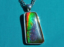 AWESOME 29ct.  AMMOLITE PENDANT Solid Sterling Silver,HANDMADE -Feng Shui Prized