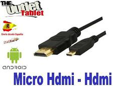 cable micro hdmi a hdmi para conectar tablet en la tv Micro-hdmi to hdmi 1,5 mts