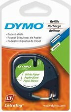 "Sanford Dymo 6 Pack, 1/2"" x 13' Letratag White Label Maker Refill Paper"