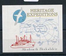 84863)  Vignette label Antarktis, Akademik Shokalskiy Her.Expeditions