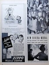 Little Lulu Kleenex ad panel from 1947 w/ Marge art - Little Lulu w/ Strong Man