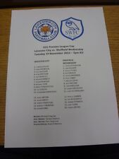 19/11/2013 Leicester City U21 V Sheffield Wednesday U21 [ U21 Premier League Cup ]