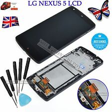For LG Google Nexus 5 D820 D821 LCD Touch Screen Display Replacement Frame Black