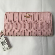 Coach Madison Gathered Leather Accordion Zip Around Wallet 53982E MSRP $248