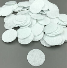 100pcs white Die Cut Felt Circle Appliques Cardmaking decoration 30mm /1.18 in