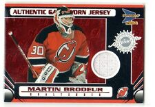 1X MARTIN BRODEUR 2003 04 Pacific Prism RED #127 GAME JERSEY Serial #d 41/75