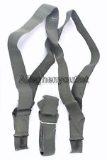 Lot of 2 NEW Trouser Suspenders M1950 Foilage Green US Military Surplus NEW