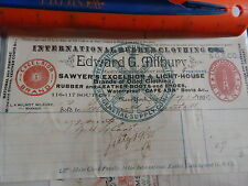1893 International Rubber Clothing Co New York NY billhead