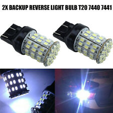 White 7443 Backup Reverse LED Light Bulbs 64-SMD 7440 7444 7441 992 992A W21W X2