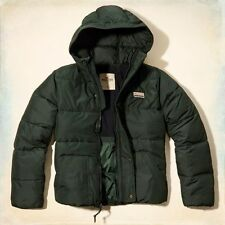 BNWT New Men's Hollister Puffer Puffa hoodie Jacket  Medium bidding for £59.99
