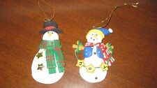 Two Polymer Clay Snowman Ornaments