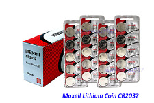 500  Maxell or Sony CR2032 3V Lithium Coin Battery Expire 2022 US Seller