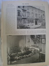 Photo article late Louis Kossuth dies Turin Italy 1894 Ref R