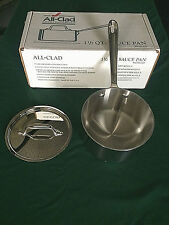 All Clad 5201.5 Stainless Steel 1 1/2 Quart Sauce Pan with Lid