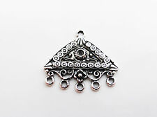 6 x Triangle Chandelier Links Charms Pendants Findings Antique Silver 27mmx24mm,