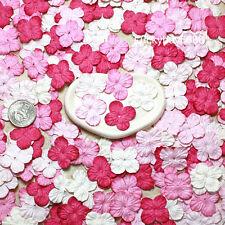 100 Pink Hydrangea Scrapbook Craft Mulberry Paper Flower Wedding Card Artificial