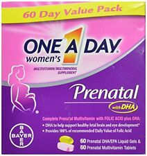 3 Pack One A Day Women's Prenatal Vitamins, 60+60 Count, 120 Count Each
