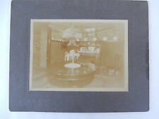 c 1890 Cabinet Photo Victorian American Interior Decor Dining Room Table Ornate