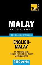 Malay Vocabulary for English Speakers - 3000 Words by Andrey Taranov and...